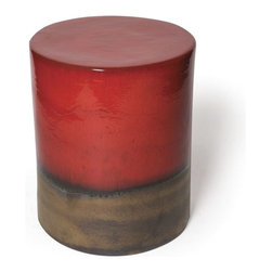 Seasonal Living Two Color Ceramic Garden Stool and Table - I love the glaze finish on this two toned garden stool. There are several colors to choose from so it'll fit right in.