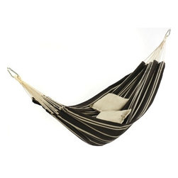 "Byer of Maine - Amazonaz Barbados Hammock Single- Mocha - ""The classic Brazilian hammock is perfect for one, wonderfully cozy for two. Ideal for sharing a relaxing afternoon, or dreaming of how nice sharing a hammock would be. Just as comfortable in the house or on the balcony as in the garden or camp.Dimensions: 1.0 IN x 11.0 IN x 1.0 IN"""
