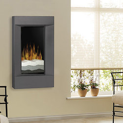 """Dimplex - Dimplex 24-Inch Beveled Black Wall Mounted Electric Fireplace - V1525BT-BLK - The Dimplex 24-Inch Beveled Black Wall Mounted Electric Fireplace is a modern fireplace with year-round ambiance and appeal. A piece of wall art, it's realistic flames have an optional heat function. The Dimplex 24"""" can be mounted to fit in even the smallest rooms."""