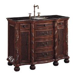 Classic Design - Single Sink/ Verdi Granite - Single Sink/Verdi Granite. Dimensions: 49 in. x 21 in. x 36 in.