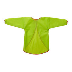MÅLA Long Sleeve Apron - A green smock for when he decides it is time to work on his art projects.