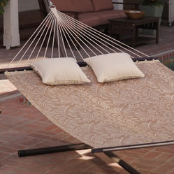 Island Bay 13 ft. Poolside Quick Dry Taupe Palm Hammock