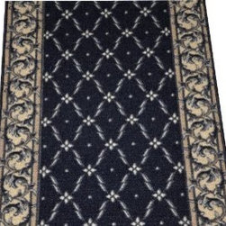 "Dean Flooring Company - Dean Flooring Company Trellis Black Carpet Rug Hallway Runner 5' - Dean Flooring Company Trellis Black Carpet Rug Hallway Runner 5' : Carpet Hallway Runner - 5' by Dean Flooring Company 100% polypropylene pile Non-skid washable rubber backing Stylish Width: Approximately 26"" Length: Approximately 60"" Machine serged with color matching yarn Provides warmth and comfort Matches our stair treads (sold separately)"