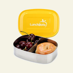 LunchBots Stainless Steel Food Container, Pico - This container is equipped to make a perfect home for two halves of a PB&J, cheese and crackers, or any other solid combination you can think of.