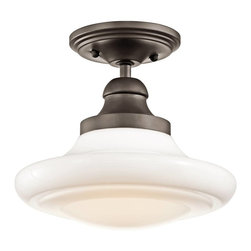 Kichler - Kichler Keller Flush Mount Ceiling Fixture in Olde Bronze - Shown in picture: Convertible 1Lt in Olde Bronze