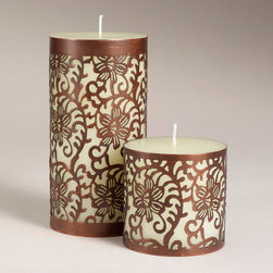 Caged Donna Candle Collection - The delicate detail outlining these candles adds a feminine, global touch to a table or dresser.