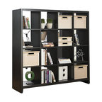 Kathy Ireland Office by Bush Furniture - Kathy Ireland by Bush New York Skyline Cube Divider in Modern Mocha - Kathy Ireland Office by Bush Furniture - Storage Cabinets - KI1010303K - Show off more than your art and special books with this contemporary and beautiful 16-cube room divider. Designed to match any kathy ireland Office by Bush Furniture New York Skyline piece it features an open design that shows off your books art and collectibles or just as easily fits matching kathy ireland Office by Bush Furniture storage bins. It floats in the center of a room or rests against a wall and its rounded edges and soft corners protect against collision injuries. All pieces are crafted with painted wood finish and a protective top coat. The included Tip Kit adds another safety layer to keep your family safe. Features Bush Furniture's Quick-to-Assemble technology for dramatically reduced assembly time.