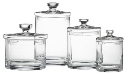 Transitional Bathroom Canisters by Crate&Barrel