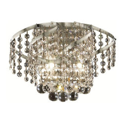 Elegant Lighting - ECA1 Belenus Collection Chrome Finish Elegant Cut Crystals Wall Sconce - Featuring a graceful multi-tiered design and a cascading crystal body, these brilliant Belenus chandeliers bring decorative drama to any room setting.  Coordinating ceiling mounts complete the versatile design.