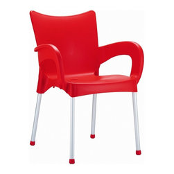 Siesta - Romeo Resin Dining Arm Chair (set Of 4) - *Made from commercial grade resin with anodized aluminum legs, with non-skid rubber caps.