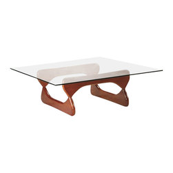 Fine Mod Imports - Guchi Walnut Coffee Table - Features: