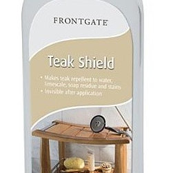 Frontgate - Spa Teak Shield - Frontgate - Teak Shield makes the wood repellent to water, limescale, soap residue, and stains. Apply 2-3 times per year to prolong the natural honey color. Reduces the frequency with which teak needs to be cleaned. Invisible after application. The Teak Cleaner cleans and brightens the wood in one treatment. Maintain the natural beauty of your teak bath accessories with our Spa Teak Shield and Spa Teak Cleaner. Designed specifically for treating our bath furniture, these two products can be used in tandem to preserve the natural honey color and to guard against the effects of water and UV rays. .  . . . . Teak Cleaner removes stains, mold, mildew, grease, and soap residue . Most effective when used with our Teak Shield . Use as directed.