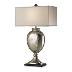 Currey and Company - Currey and Company 6650 Marmont Traditional Table Lamp - An oversized lamp, the Marmont lamp is definitely a showstopper. Beautiful curves of the base are balanced by the clean lines of the silk shade.