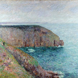 """Gustave Loiseau Cliffs at Cape Frehel - 16"""" x 20"""" Premium Archival Print - 16"""" x 20"""" Gustave Loiseau Cliffs at Cape Frehel premium archival print reproduced to meet museum quality standards. Our museum quality archival prints are produced using high-precision print technology for a more accurate reproduction printed on high quality, heavyweight matte presentation paper with fade-resistant, archival inks. Our progressive business model allows us to offer works of art to you at the best wholesale pricing, significantly less than art gallery prices, affordable to all. This line of artwork is produced with extra white border space (if you choose to have it framed, for your framer to work with to frame properly or utilize a larger mat and/or frame).  We present a comprehensive collection of exceptional art reproductions byGustave Loiseau."""