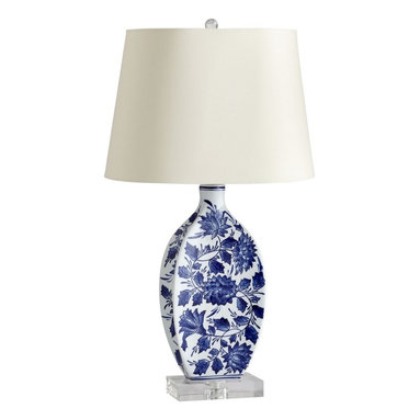 Lamps - Blue and White Table Lamp