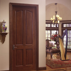 Colonial door - TruStile TS4010 in walnut with Roman ogee (OG) sticking and scoop (B) panel
