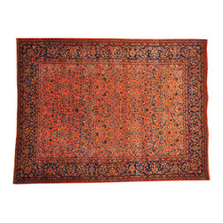 1800-Get-A-Rug - Hand Knotted Full Pile Antique Persian Manchester Kashan Rug Sh16495 - Oriental rugs are famously known to gain more value over time. An authentic Antique hand knotted rug is not only an instant centerpiece in any setting, but is a wonderful investment which only increases over the years. This collection features rare and valuable authentic hand-knotted area rugs from all over the world at exclusive discount prices.