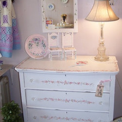 Vintage Shabby Chic Painted  Dressers -