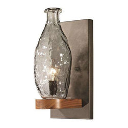 Trans Globe Lighting - Trans Globe Lighting 70570 Wall Sconce In Black and Wood - Part Number: 70570