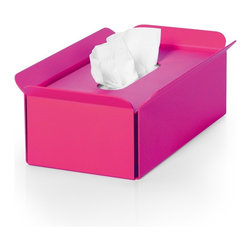 WS Bath Collections - Bandoni 53441.16 Tissue Container in Pink - Bandoni 53441.16 Tissue Container in Pink by WS Bath Collections