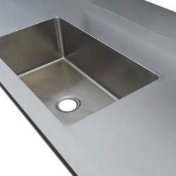 Stainless Steel Counter Top #4 Finish - #4 Finish Stainless Steel counter top with integral sink.
