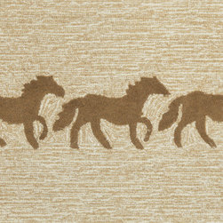 "Trans-Ocean - 30""x48"" Frontporch Horses Brown Rug - Richly blended colors add vitality and sophistication to playful novelty designs.Lightweight loosely tufted Indoor Outdoor rugs made of synthetic materials in China and UV stabilized to resist fading.These whimsical rugs are sure to liven up any indoor or outdoor space, and their easy care and durability make them ideal for kitchens, bathrooms, and porches. Made in China."