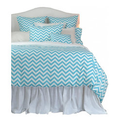 "La Mode Couture - Sierra Ocean King Duvet Cover 102"" x 90"" - Perfectly spaced ridges inspired by natures marvelous panoramas."