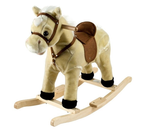 "Trademark Global - Happy Trails Lil Henry Rocking Horse - Hand crafted. Sturdy wooden rockers stand. Age group: 2-3 years. Made from wood. 28.5 in. W x 13 in. D x 23.38 in. H (7 lbs.)This soft, plush Rocking Horse Jr. from Happy Trails is sure to be your cowboy or cowgirl's favorite toy. Your little one will enjoy hours ""riding the range"" on this wonderful Rocking Horse Jr. from Happy Trails."