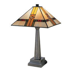 Dale Tiffany - New Dale Tiffany 1-Light Lamp Bronze Mission - Product Details