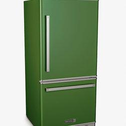 Big Chill Pro Fridge in Basil Green - Bottom Freezer