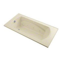Sterling - Sterling Lawson 76301100 72 in. x 36 in. Whirlpool Bathtub - 76301100-0 - Shop for Jetted/Whirlpool from Hayneedle.com! The Sterling Lawson 7630110 72 in. x 36 in. Whirlpool Bathtub is 6 feet of pure pleasure thanks to 8 adjustable jets that give a targeted and vigorous hydrotherapy massage. The design of this piece provides a clean look with a contemporary feel that will elevate the decor of your home bathroom. One of its most luxurious features is its carefully contoured backrest with lumbar support. Capable of holding up to 68 gallons of water this relaxing tub is ideal for the individual who enjoys a nice long soak after a hard day's work! As for the construction of this bathtub Sterling has a reputation for quality craftsmanship and like all of their other bath products; this unit is made from solid Vikrell. The compression-molded Vikrell is a Sterling exclusive that provides strength durability and a lasting beauty that you can customize with your own choice of finish. Kohler almond Kohler biscuit and pure white are all available with a coating of high-gloss that creates a smooth shiny surface which looks marvelous and is incredibly easy to clean. This CSA-certified bathtub measures 72W x 36D x 20H inches and installs easily. Receptor only; end walls and back walls can be ordered separately. Available in your choice of left- or right-hand drainage. About SterlingEstablished in 1907 and quickly recognized as a leading manufacturer of faucets and brassware Sterling has been known for their diversity of products and industry-leading designs for over a century. In 1984 Sterling was acquired by Kohler Co. to create a mid-priced full-line plumbing brand and allow Kohler the opportunity to sell their products in retail stores. Over the years Kohler quickly began acquiring other companies to help enhance the Sterling line of products that was quickly growing into the likes of stainless steel sinks compressed fiberglass bathtubs and enclosures and vitreous c