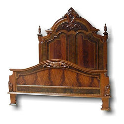 EuroLux Home - New Queen Bed Victorian Style Carved Double - Product Details