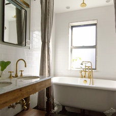 Eclectic Bathroom by indigo & ochre design