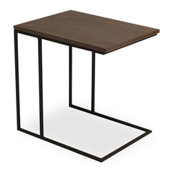 Bryght - Myron Walnut End Table - Sleek and industrial, the Myron end table adds function with style. Place it as a chair side table or pull it up for a cuppa while you lounge.