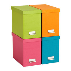 Bright Stockholm Desktop File - Storage boxes are a lifesaver for messy children's rooms. The vibrant colors of these boxes are perfect for a kid's room and come in shades for boys or girls.