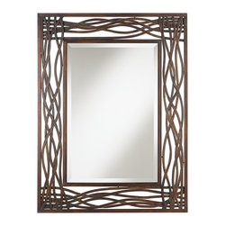 "Uttermost - Arts and Crafts - Mission Uttermost Dorigrass Distressed Mocha Brown Wall Mirror - A hand forged metal frame finished in a distressed mocha brown adds depth and texture to this wall mirror. A generous 1/4"" bevel accompanies the mirror and allows for softer edges. Whether you prefer to hang it vertically or horizontally it will bring an interesing feature to your wall decor. From the Uttermost mirror collection. Forged metal construction frame. Distressed mocha brown finish. 1 1/4"" beveled edge. Mirror glass only is 19 1/2"" wide 29"" high. 32"" wide. 42"" high. Hangs horizontally or vertically. Hang weight 33 pounds.  From the Uttermost mirror collection.   Forged metal construction frame.   Distressed mocha brown finish.   1 1/4"" beveled edge.   Mirror glass only is 19 1/2"" wide 29"" high.   32"" wide.   42"" high.   Hangs horizontally or vertically.    Hang weight 33 pounds."