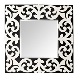 Pauline Black & White Matte Mirror - This mirror has a bit of a Mediterranean feel and would look fantastic in a front hall.