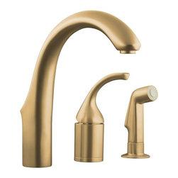 KOHLER - KOHLER K-10441-BV Forte Entertainment Remote Valve Sink Faucet - KOHLER K-10441-BV Forte Entertainment Remote Valve Sink Faucet with Sidespray in Brushed Bronze