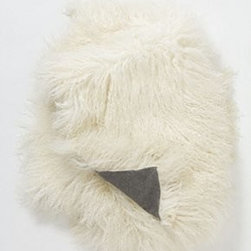 """Anthropologie - Luxe Fur Throw - Sheared Mongolian sheep fur, wool, polyesterProfessionally clean60""""L, 50""""WImported"""