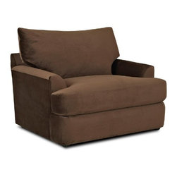 Klaussner Furniture - Findley Chair and Ottoman Set in Chocolate - K56830-CO - Findley Collection Chair