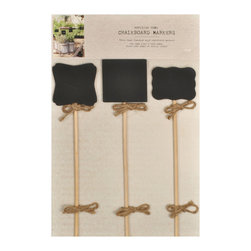 Enchante Accessories Inc - Sheffield Home Parisian Set of 3 Mini Chalkboard Markers on Dowels, Black - This pack of 3 mini chalkboards are great for restaurants & bars. Great way to label items for sale in a retail stores. Use these special mini chalkboards in your store to accent the handmade appeal of your products or services. Use in restaurants for Menu and specials sign. Signs have a nice French bistro feel.