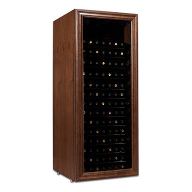 220 Bottle Venetian Wine Cabinet - Elegance and affordability merge to create this truly unique full-length window door style. The Venetian is handcrafted from alder and its hand-glazed & distressed finish gives each unit a unique character.