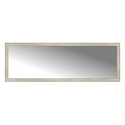 """Posters 2 Prints, LLC - 71"""" x 24"""" Libretto Antique Silver Custom Framed Mirror - 71"""" x 24"""" Custom Framed Mirror made by Posters 2 Prints. Standard glass with unrivaled selection of crafted mirror frames.  Protected with category II safety backing to keep glass fragments together should the mirror be accidentally broken.  Safe arrival guaranteed.  Made in the United States of America"""