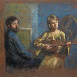 Thomas Strickland, Thomas and Ann (Self-Portrait), Pastel Drawing - Artist:  Thomas Strickland