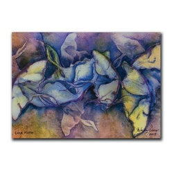 """Luna Moth 14x20 Print - """"Luna Moth"""" is a whimsicle bird canvas giclee by Cheri Greer.  This 14x20 canvas is gallery wrapped. We take the fine art canvas and stretch it over a wooden frame, adhering the canvas to the backside of the frame. The canvas actually wraps around the edges of the frame, giving your print the look of a fine piece of art, such as you might find in an art gallery. There is no need for a picture frame. Your piece of art is ready to hang or lean against a wall, or display on an easel."""