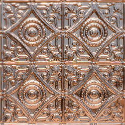 """Decorative Ceiling Tiles - Harry's Scrollwork - Copper Ceiling Tile - 24""""x24"""" - #1219 - Find copper, tin, aluminum and more styles of real metal ceiling tiles at affordable prices . We carry a huge selection and are always adding new style to our inventory."""