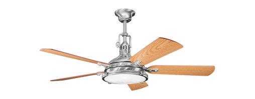 Kichler - Kichler 300018BSS 56 Inch Hatteras Bay Fan - Kichler 300018BSS 56 Inch Hatteras Bay Fan