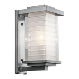 Kichler - Kichler Ascari 1-Light Platinum Wall Lantern - This 1-Light Wall Lantern is part of the Ascari Collection and has a Platinum Finish. It is Outdoor Capable.