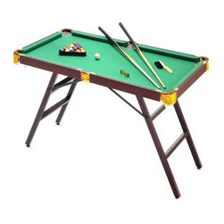 """48"""" Mini Pool Table with Accessories - -Perfect for kids' rooms, dorm rooms, or even on-the-go (tailgate parties, camping and picnics)"""