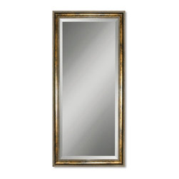 Uttermost - Uttermost Sinatra Mirror - Uttermost Sinatra Mirror is a Part of Mirrors Collection by Uttermost This solid wood frame has a gold leaf undercoat with a blotched stain, black specking, and a dark gray glaze. Mirror is beveled. Wall Mirror (1)
